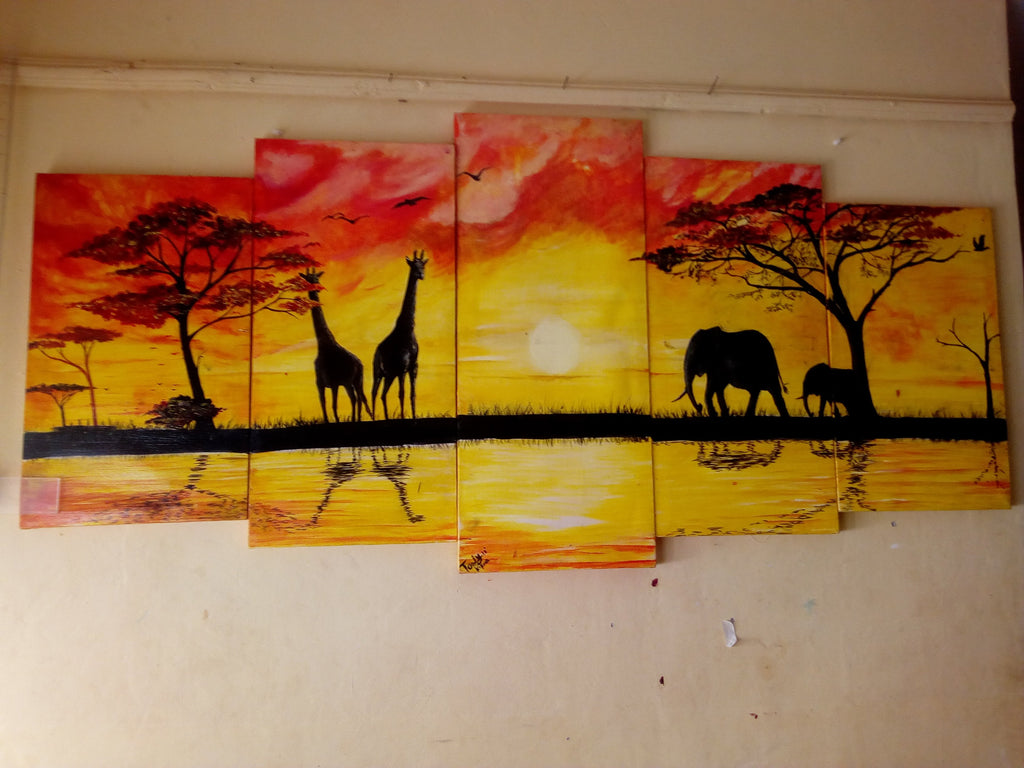 Hand Painted: Wildlifes - WallArtKenya- Art Kenya