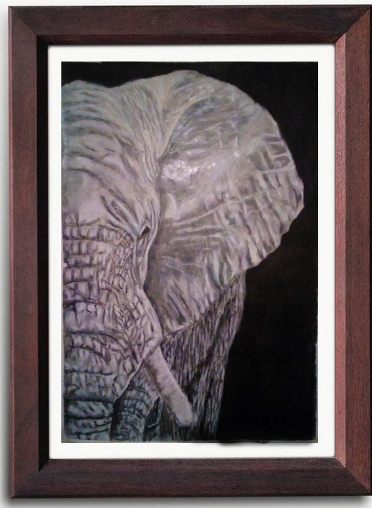 Hand Painted: Noble Elephant - Kenyan Art