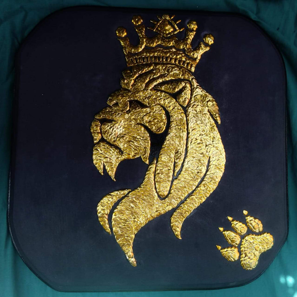 Hand Crafted: Golden Simba - WallArtKenya- Art Kenya