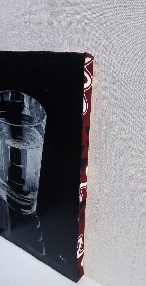 Hand Painted: Realism- Glass of Water - Kenyan Art