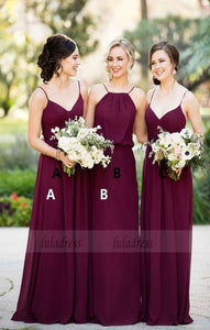 Bridesmaid Dresses for Women,Long Bridesmaid Dress,Burgundy Bridesmaid Dress,BD98295