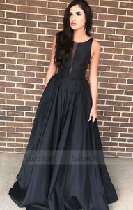 elegant black long prom dress party dress formal evening dress,BD98704