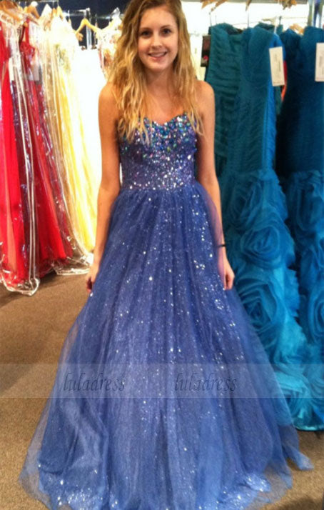 Sequin Prom Dresses,Sweetheart Evening Gowns,Tulle Formal Gown,Ball Gown Prom Dresses For Senior Teens,BD98371