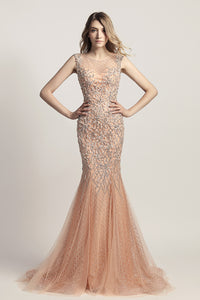 Luxury Dazzling Long Prom Dress Charming Sleeveless Evening Dress, LX445