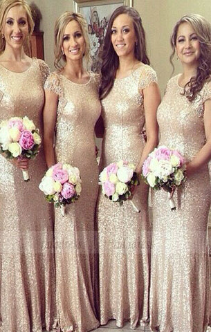 Sequin Bridesmaid Dress,Long Bridesmaid Gown,Sequined Bridesmaid Gowns,Glittery Bridesmaid Dresses,BD98318