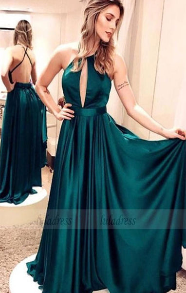 A-Line Evening Dresses Simple Backless Prom Dresses Party Dresses,BD98618