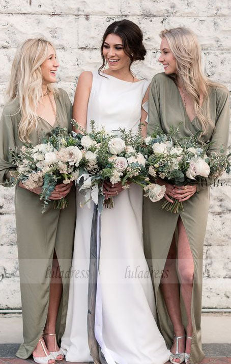 Mermaid Sleeveless Bridesmaid Dresses,Long Simple Bridesmaid Dresses,BD99599