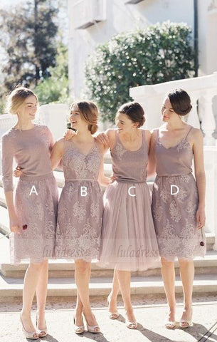 Short Bridesmaid Dress, Charming Bridesmaid Dress,BD98882