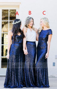 Sequins Bridesmaid Dress,Pretty Bridesmaid Dress,Free Style Bridesmaid Dress,BD98905
