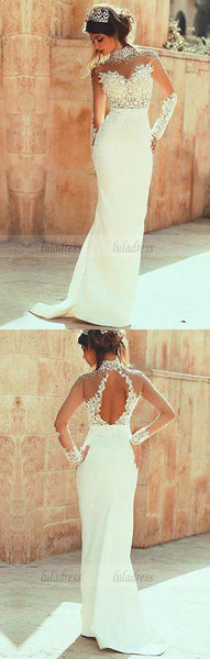 Beaded Lace Appliques Wedding Dress,Mermaid Wedding Dresses,Long Bridal Dresses,BD99522