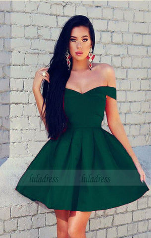 dark green homecoming dresses,short cocktail dress,emerald green homecoming dress,BD98232