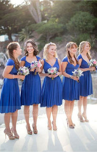 Sexy Bridesmaid Dress,V Neck Bridesmaid Dresses,Cap Sleeve Short Bridesmaid Dress,BD98903