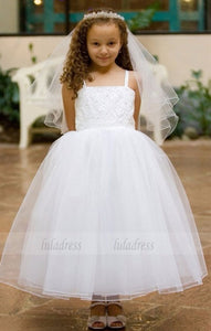 beaded flower girl dresses for weddings long first communion dresses for girls pageant dresses for little girls,BD99206