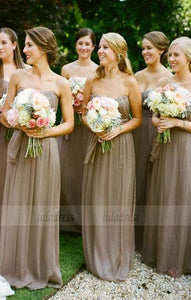 Sweetheart Chiffon Bridesmaid Dresses, Elegant Bridesmaid Dresses, Long Bridesmaid Dresses Country,BD98089
