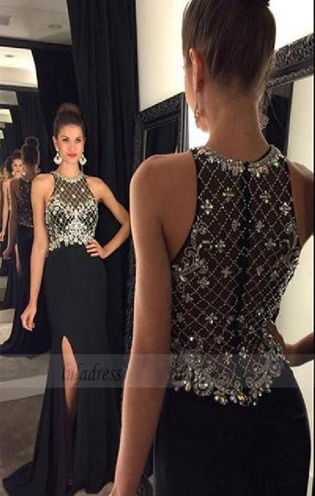 Black Prom Dresses,Backless Prom Dress,Sexy Prom Dress,Simple Prom Dresses,BD98338