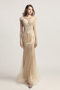 Luxury Formal Long Prom Dress Charming Beaded Evening Dress, LX469