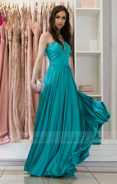 A-line Long Strapless Evening Dresses Simple Formal Gowns,BD99889