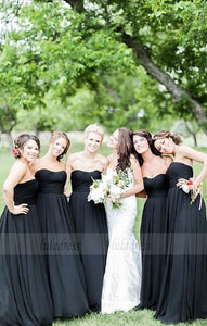 Simple Bridesmaid Dresses,Black Bridesmaid Dresses,Sweetheart Bridesmaid Dresses,BD99867