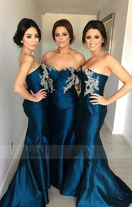long bridesmaid dress ,sweetheart bridesmaid dress,mermaid bridesmaid dress,custom bridesmaid dress,BD98898