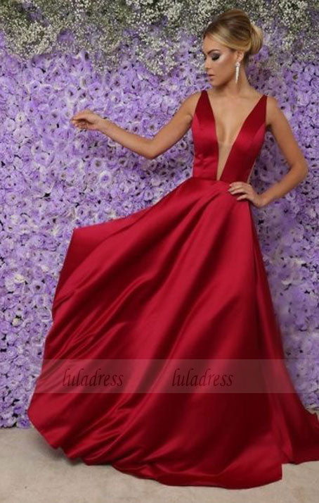Long Sexy V Neckline Prom Gowns,BD98629