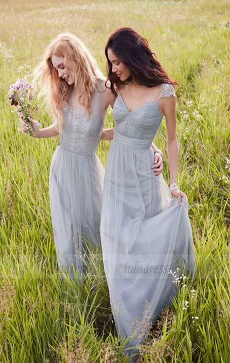 Simple A Line Bridesmaid Dress,Elegant Bridesmaid Dresses,Long Bridesmaid Dress,BD98986