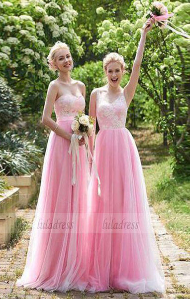 Beautiful A-Line  Floor-Length Bridesmaid/Prom Dress with Lace,BD99341