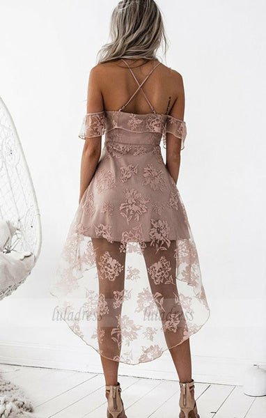 Applique Junior School Dress, Knee-Length Homecoming Dress, Sexy Prom Dress ,BD99475