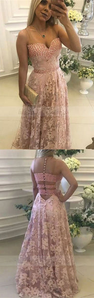 modest sweetheart evening gowns, unique special back party dresses with pearls,BD98749