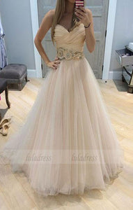 A line tulle long prom dress, formal dress,BD99031