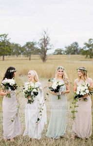 Lace Bridesmaid Dresses Long, Mismatched Bridesmaid Dresses, Lace Bridesmaid Dresses Open Back,BD98095
