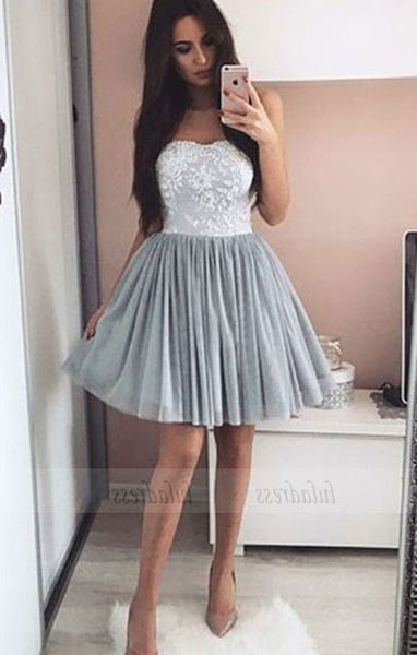 Elegant Homecoming Dress,Tulle Prom Short Dresses,BD99904
