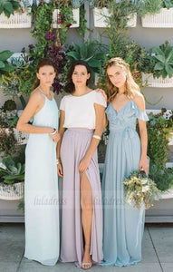 Long Bridesmaid Dresses,Chiffon Bridesmaid Dress,BD98983
