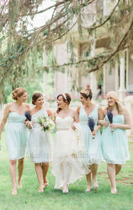 Short Bridesmaid Dress,Mismatched Bridesmaid Dress,Cheap Bridesmaid Dress,BD98876