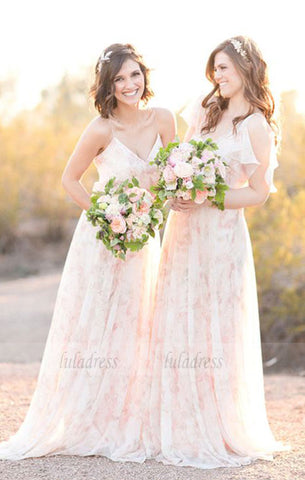chic wedding party dresses, romantic fashion bridesmaid dresses with lace,simple long party gowns,BD99603