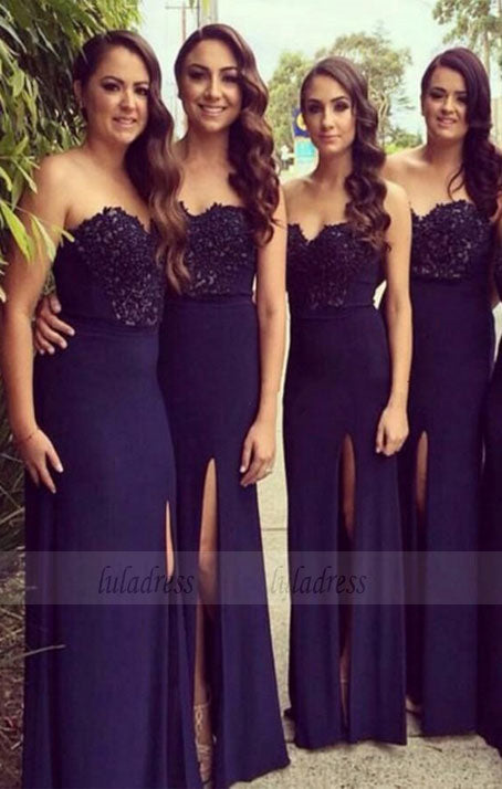long bridesmaid dress, mermaid bridesmaid Dress, custom made bridesmaid dress,BD98894