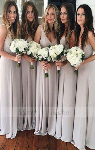 A-Line Scoop Chiffon Bridesmaid Dress,BD99357