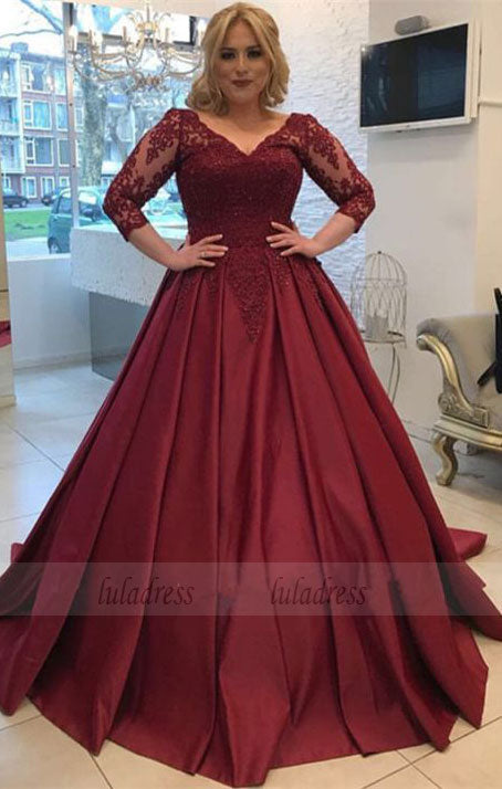 5d604a479c4e3 Modest Prom Dresses With 3/4 Sleeves,Elegant Wedding Gowns,Ball Gowns  Wedding ...