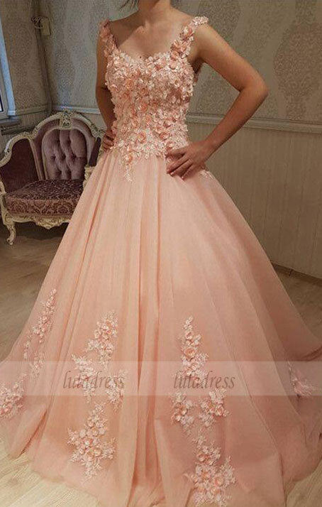 Chic Lace Flowers Embroidery Sweetheart  Ball Gowns Wedding Dresses For Bride,BD98017