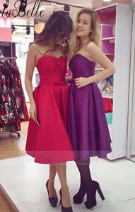 Sleeveless A-line Homecoming Dress, Strapless Formal Gowns,BD99893