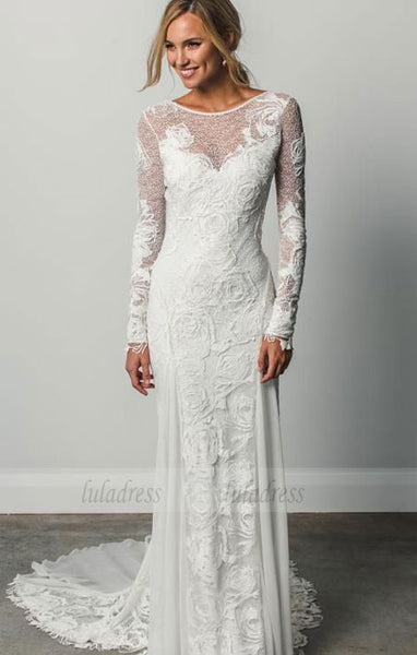 Long Sleeves Wedding Dresses,Lace Wedding Dress,BD99808