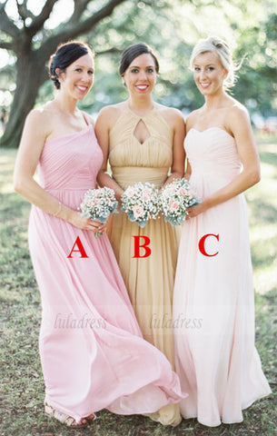 Long Bridesmaid Dress,Mismatched Bridesmaid Dress,Sleeveless Bridesmaid Dress,BD98911
