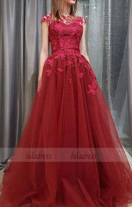 A-line Lace and Tulle Long Formal Dress,Charming Party Dress, Formal Gowns,BD99541