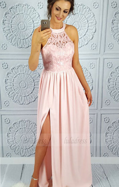 Chiffon Lace Prom Dress,Long Prom Dresses,Prom Dresses,Evening Dress,BD99037