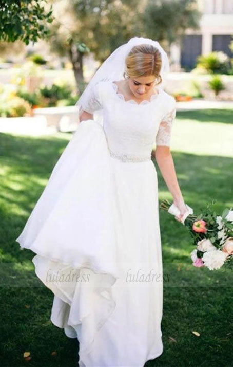 Simple Wedding Dresses,Wedding Dress with Sleeves,BD99804