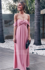 Ruched Chiffon Sweetheart Off Shoulder Prom Dresses,BD99786