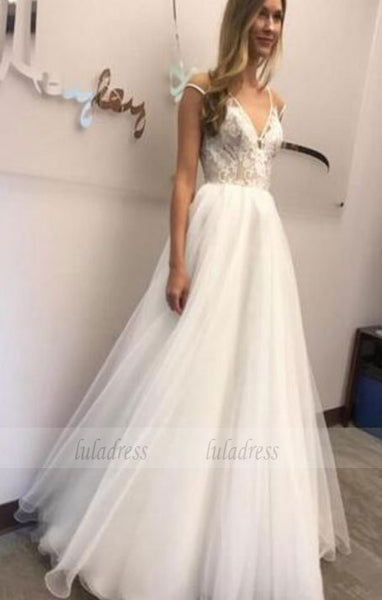 Elegant Wedding Dress,Sheer V Neckline Wedding Dresses,BD99629
