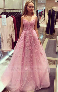 tulle lace long prom dress,  evening dress,BD99038