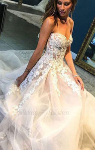 Sweetheart White Tulle Evening/Wedding Dress,BD98208