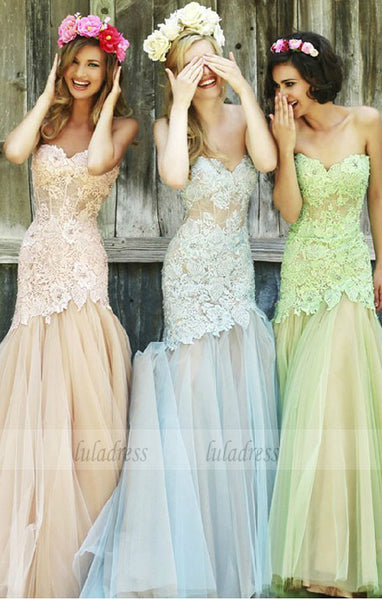 Fashion Mermaid Bridesmaid Dresses,Evening Dress Strapless Bridesmaid Dress,BD99525