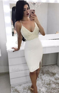 White Homecoming Dress,Sexy Homecoming Dress,Teens Homecoming Dress